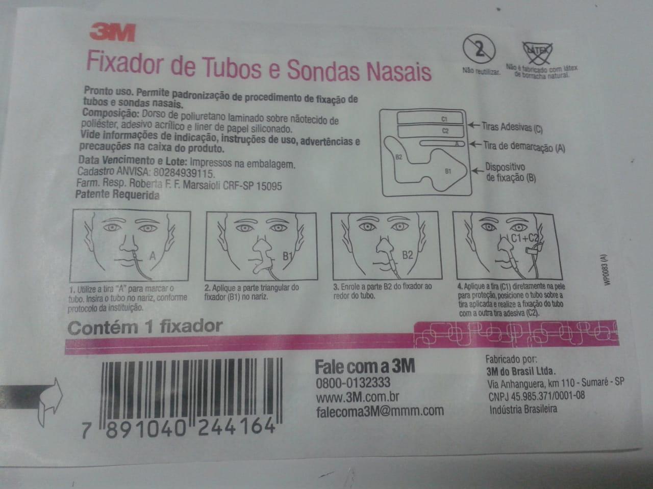Fixador de tubos e sondas nasais 3M tamanho único