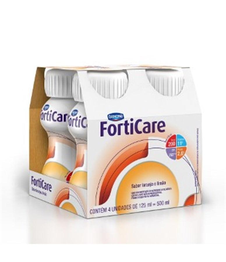 Forticare 125ml c/4 - sabor laranja com limão