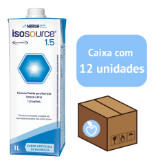 Isosource 1.5 Kcal 1000ml - Caixa com 12 unidades