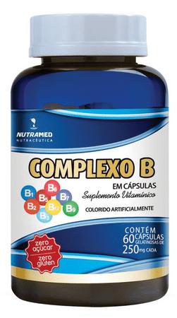 Complexo B zero açúcar  250 mg c/ 60 cápsulas