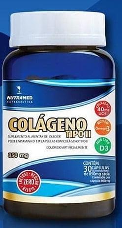 Colágeno tipo 2  - zero açúcar & zero lactose - 30 cápsulas c/850 mg